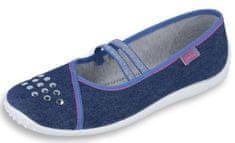 Befado dívčí bačkory Nina 345Q164 37 tmavě modrá