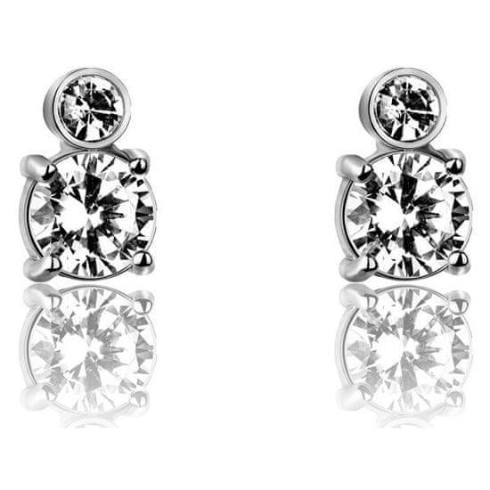 VictoriaWallsNY Acél bedugós fülbevaló kristályokkal VE1094S