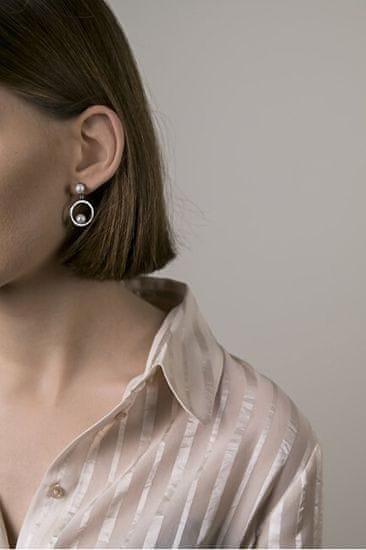 VictoriaWallsNY Acél fülbevaló gyönggyel VE10100S