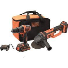 Black+Decker akumulatorski set udarni vrtalnik in kotni brusilnik BCK24D2S