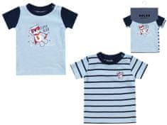 BOLEY chlapecký set 2 ks triček s krátkým rukávem 6121110 56 modrá
