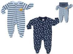 BOLEY chlapecký set 2 ks overalů s dlouhým rukávem 6321110 56 modrá