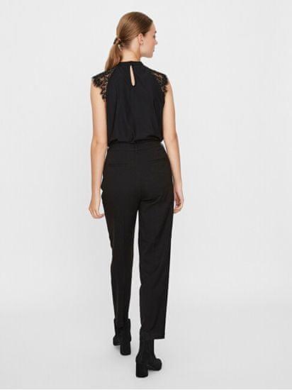 Vero Moda Ženska bluza VMMILLA SL LACE TEE GA NOOS 10226072 Black