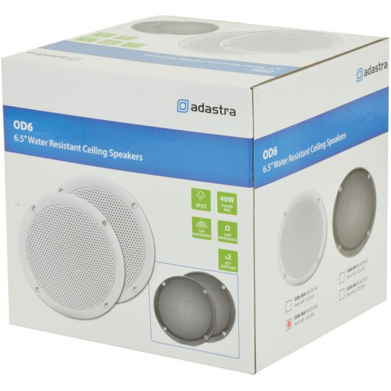 """Adastra OD6-W8, podhledový 6.5"""" reproduktor, 40W, IP35, bílý"""