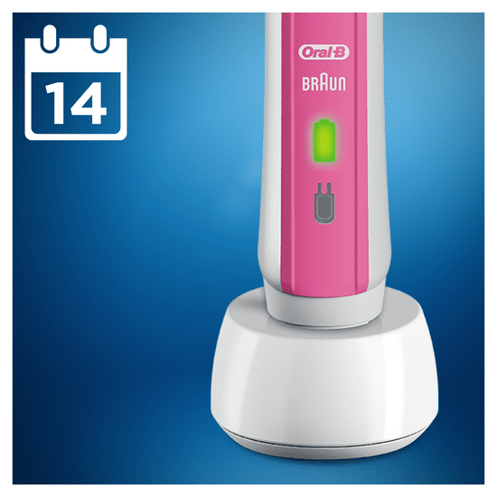 Oral-B električna zobna ščetka Pro 2500 Pink 3DWhite