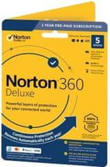 NORTON 360 DELUXE 50GB CZ pro 1 uživatele pro 5 zařízení na 12 měsíců BOX