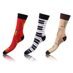 Bellinda zábavné ponožky CRAZY SOCKS 3 ks modrá/zelená 43 - 46