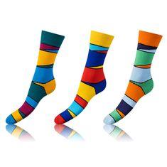 Bellinda set veselých ponožek CRAZY SOCKS 3 ks vícebarevná 35 - 38