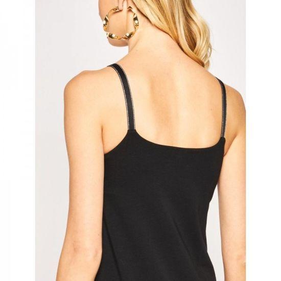 Emporio Armani Dámské šaty Emporio Armani černé na ramínka - M