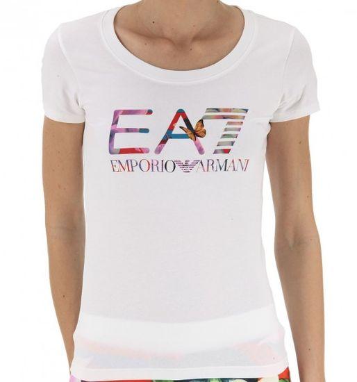 Emporio Armani Dámské triko Empori Armani bílé s barevným logem - XS