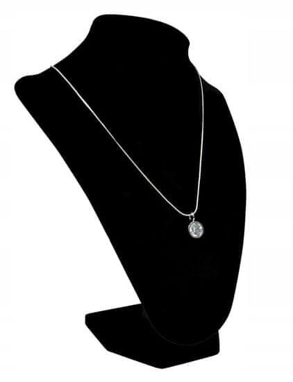 Lorenti Dámský náhrdelník Lovely s krystalkem, stříbrný