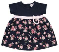 Jacky 3911470 Classic Girls dekliška obleka s kratkimi rokavi, temno modra, 62