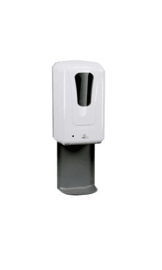 PREZENTA FLEXI dezinfekčný stojan ČERVENÝ s bezdotykovým dávkovačom na tekutú dezinfekciu a batériami