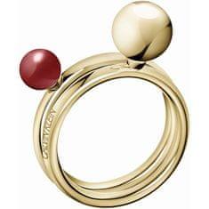 Calvin Klein Pozlacený prsten Bubbly KJ9RJR14040 (Obvod 52 mm)