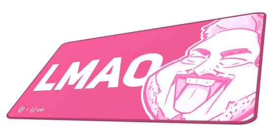 UVI Inferno GallaSandalla Pink Edition podloga za miško, XXL