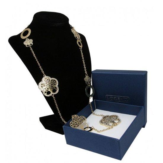 Lorenti Dámský dlouhý masivní náhrdelník Strom života v kytce, zlatý