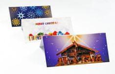 tvorme Zatváracia vianočná pohľadnica s obálkou - Betlehém, ch05