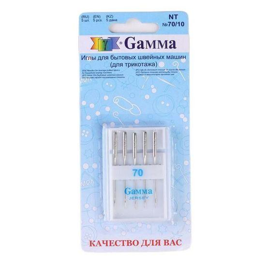 Gamma 2 sady, jehly pro domácí šicí stroje, na pletené zboží