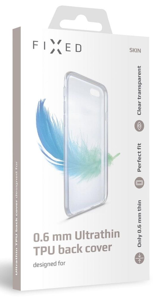 FIXED Ultratenké TPU gelové pouzdro Skin pro Xiaomi Mi 10T Pro, 0,6 mm FIXTCS-543, čiré