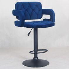 Sharce barski stol, temno moder