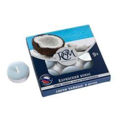 """Kraftika Sada čajových svíček s příchutí """"karibského kokosu"""", 10 g"""