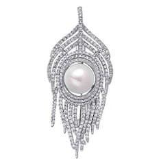 JwL Luxury Pearls Lepo pero broška 2v1 JL0628