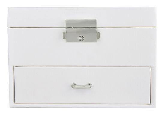 Troli Ekskluzivna kremna škatla za nakit z ogledalom VJBB006