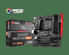MSI B450M MORTAR MAX osnovna plošča, DDR4, SATA3, USB 3.2 Gen2, DP, AM4, mATX