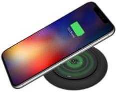 FIXED Podložka pro rychlé bezdrátové nabíjení telefonu Pad, 10W FIXPAD-BK, černá
