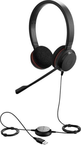 Jabra Evolve 20 naglavne slušalke, USB