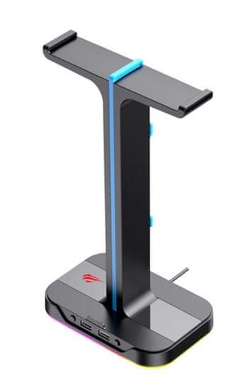 Havit Gamenote TH650 stojalo za slušalke, RGB, USB 2.0