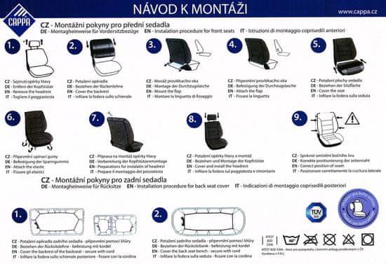 Cappa ENERGY üléshuzat fekete/szürke