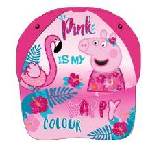 """Eplusm Dziewczęca czapka z daszkiem """"Świnka Peppa"""" - różowy - 54 cm"""