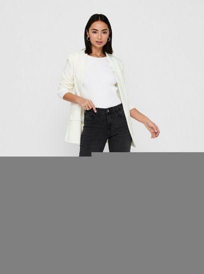 Jacqueline de Yong šedé straight fit džíny