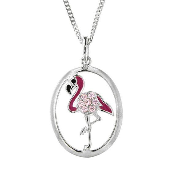 Praqia Gyerekek ezüst nyaklánc Flamingó KO8083_CU040_40 (lánc, medál) ezüst 925/1000