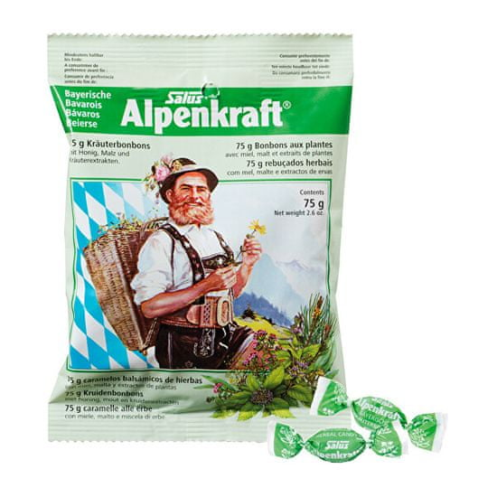 Salus Alpenkraft - Bylinné cukríky 75 g