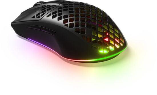SteelSeries Aerox 3 bežični gaming miš, 2.4 GHz, Bluetooth 5.0, RGB