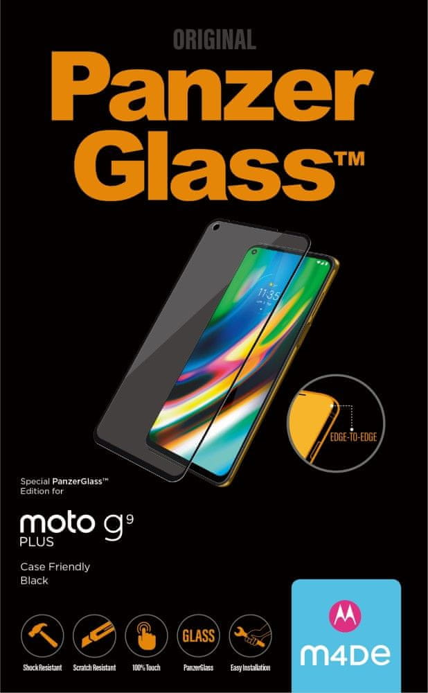 PanzerGlass Edge-to-Edge pro Motorola Moto G9 Plus 6533, černé
