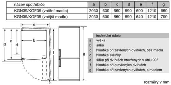 Bosch lednice s mrazákem KGN392IDA
