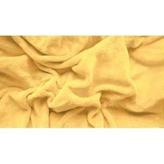 Povlečeme vše Prostěradlo mikroplyš - Žlutá, 180x200 cm