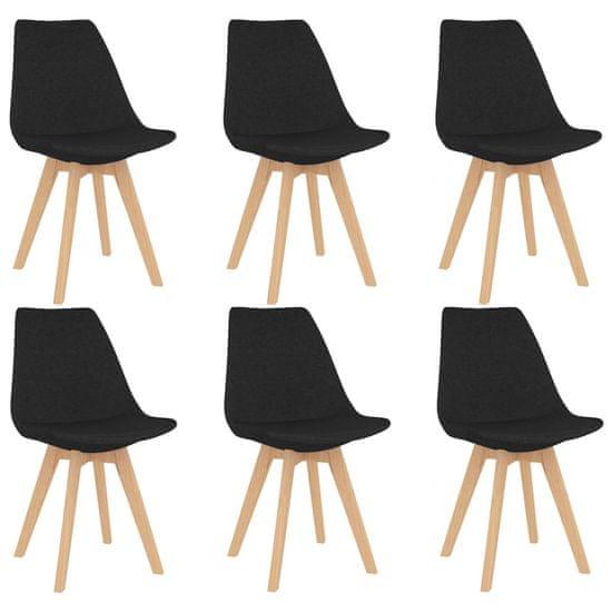 shumee 7-częściowy zestaw mebli jadalnianych, czarny