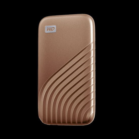 WD My Passport zunanji disk, SSD, 1TB, USB-C, 3.2, zlat