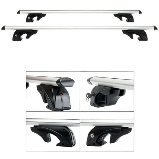 Aroso Příčníky na klasické podélníky / hagusy Tiger 120cm - aluminium / uzamykatelné