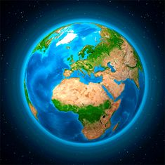 mapcards.net 3D magnetka Zem