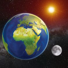 mapcards.net 3D magnetka Zem, Slnko, Mesiac