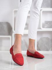 Női balerina cipő 69146, piros árnyalat, 37