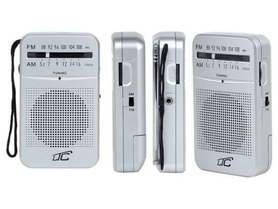 LTC AM/FM žepni radio na baterije