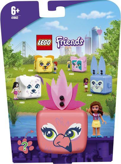 LEGO Friends 41662 Olivia in njena flamingo škatla