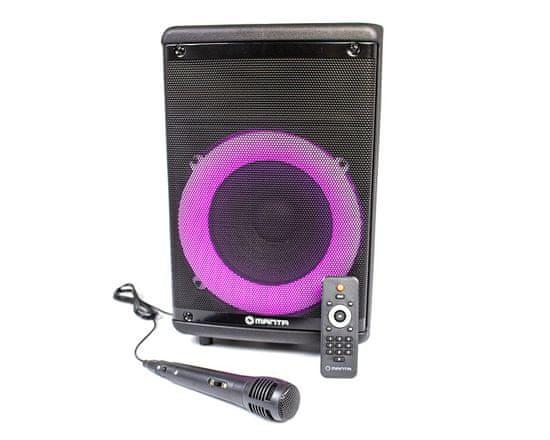 Manta SPK5030 karaoke zvočni sistem, prenosni, Bluetooth, LED lučke, TWS