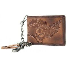 Kožená motorkárska peňaženka 08